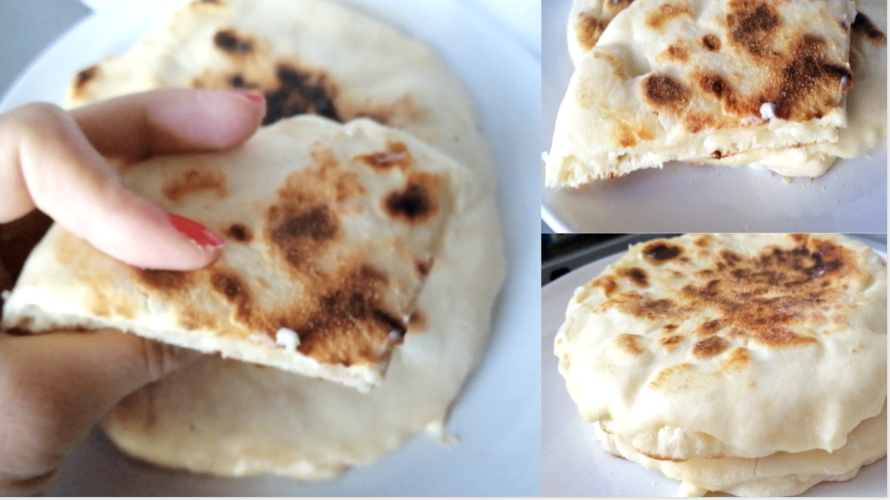 Cheese naan (Pain Indien)