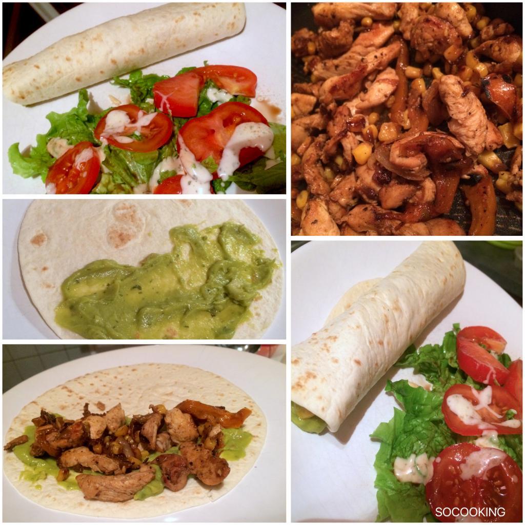 Fajitas poulet à la mexicaine