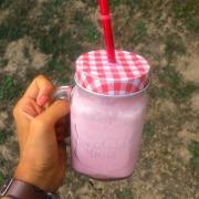 Milk shake coco framboise