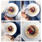 Porridge léger au son d'avoine et eau de coco