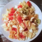 Salade de pates a la mozzarella