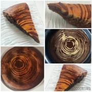 Gâteau zébré au chocolat