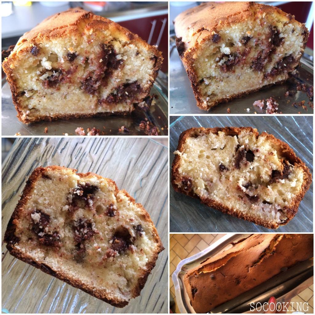 Cake moelleux banane-chocolat