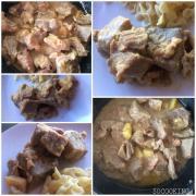 Sauté de porc sauce roquefort