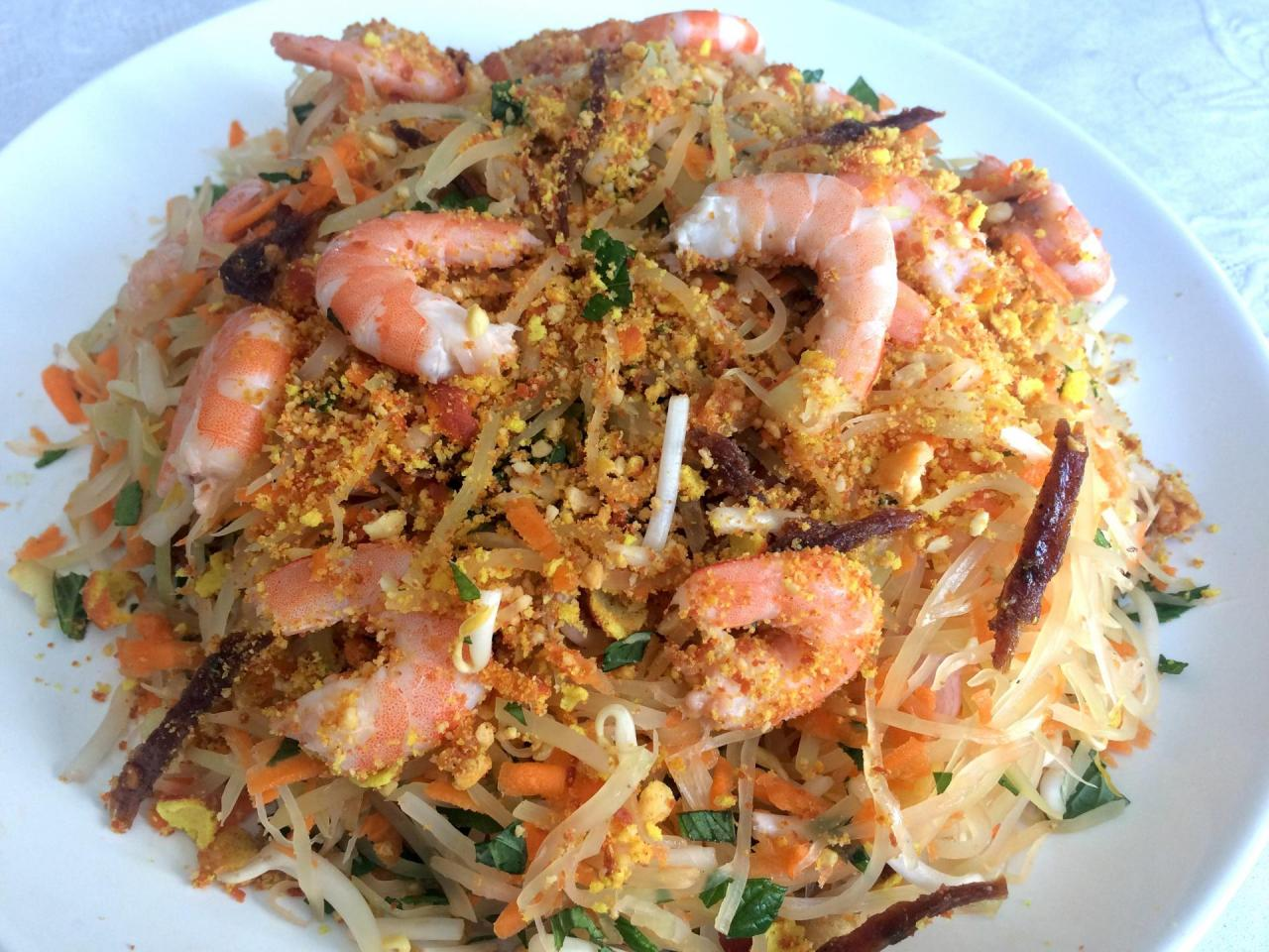 Salade vietnamienne de papaye