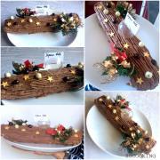 Bûche de Noel crème de marron et chocolat