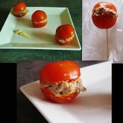 Minis tomates farcies au thon assaisoné