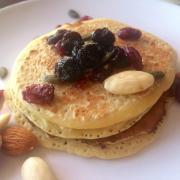 Pancakes de pois chiche sans gluten et sain