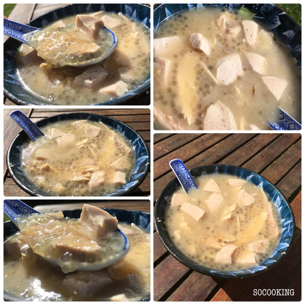 Soupe de tapioca au poulet