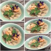 Soupe thaï coco et crevettes