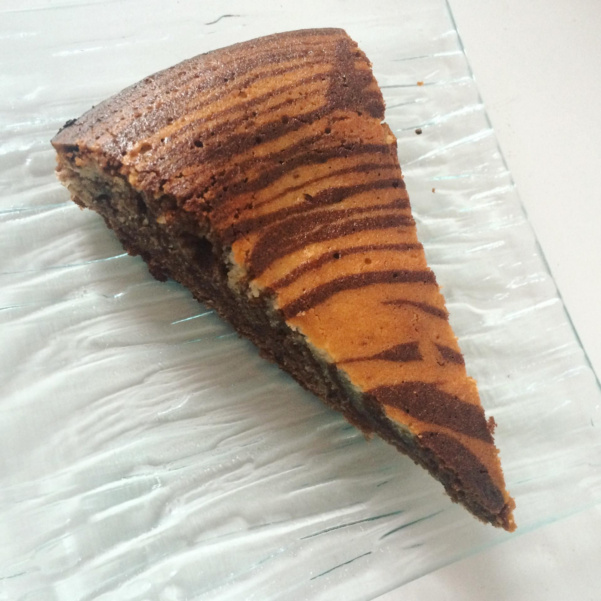 Gateau zébré au chocolat