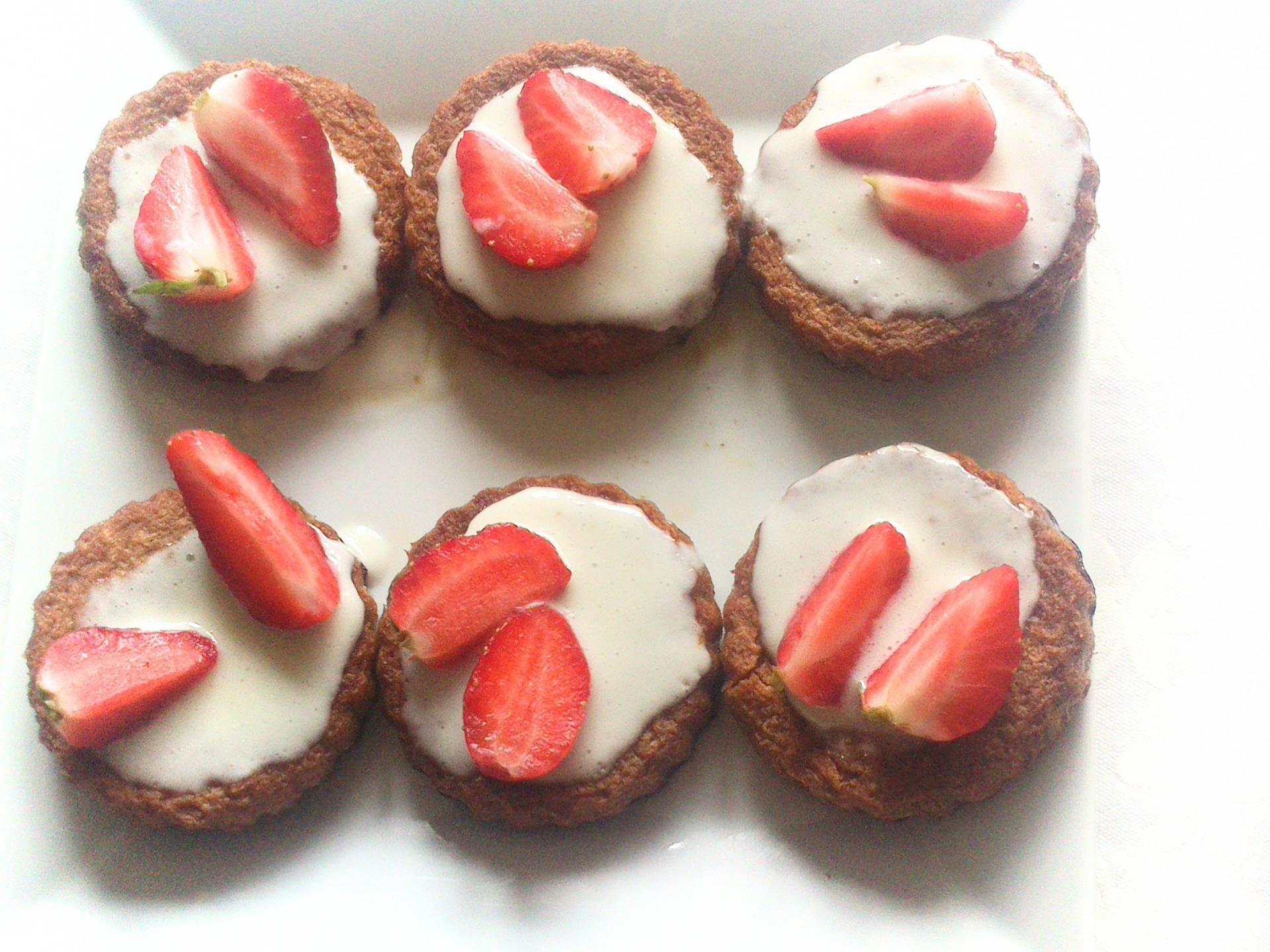 Mignardise fraise et chocolat blanc