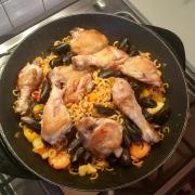 Fideua poulet fruits de mer14 min