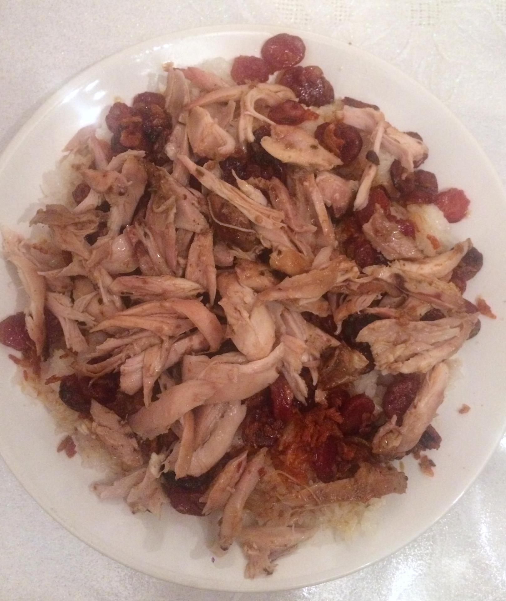 Riz gluant au poulet et lap xuong