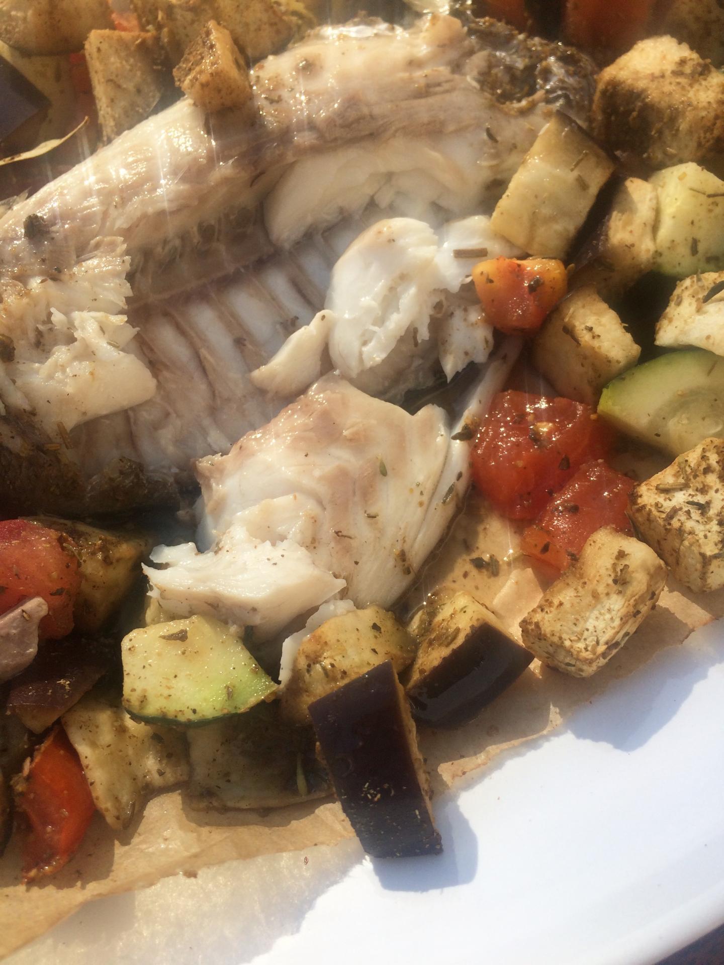 daurade au gros sel et ses légumes à la provençale