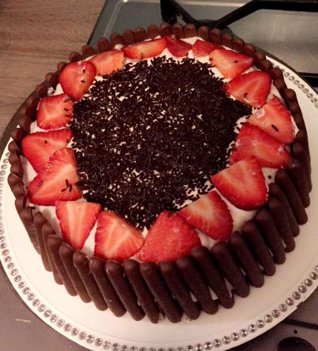 Layer cake chocolat & fraises