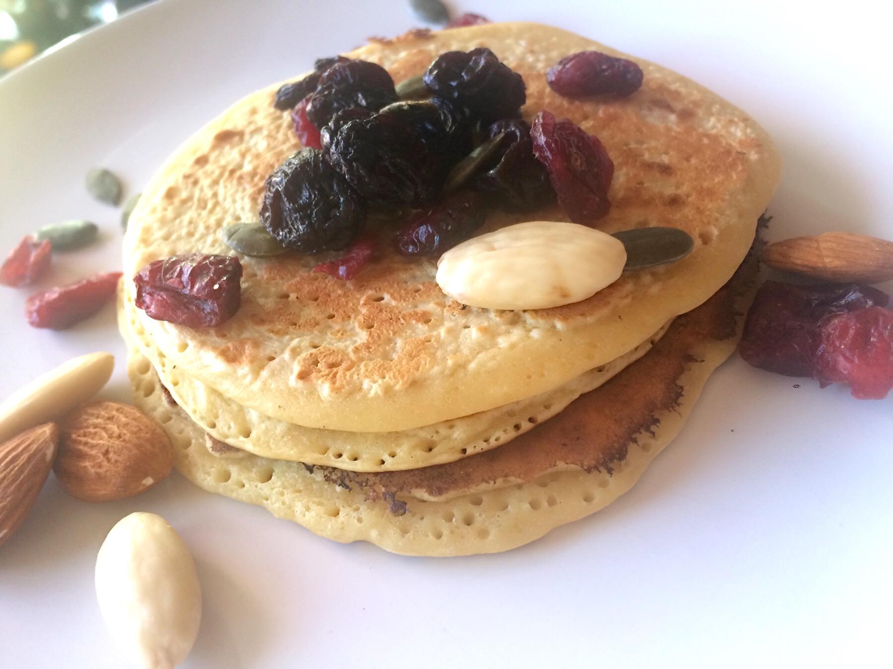 Pancakes originaux : pois chiche et amandes