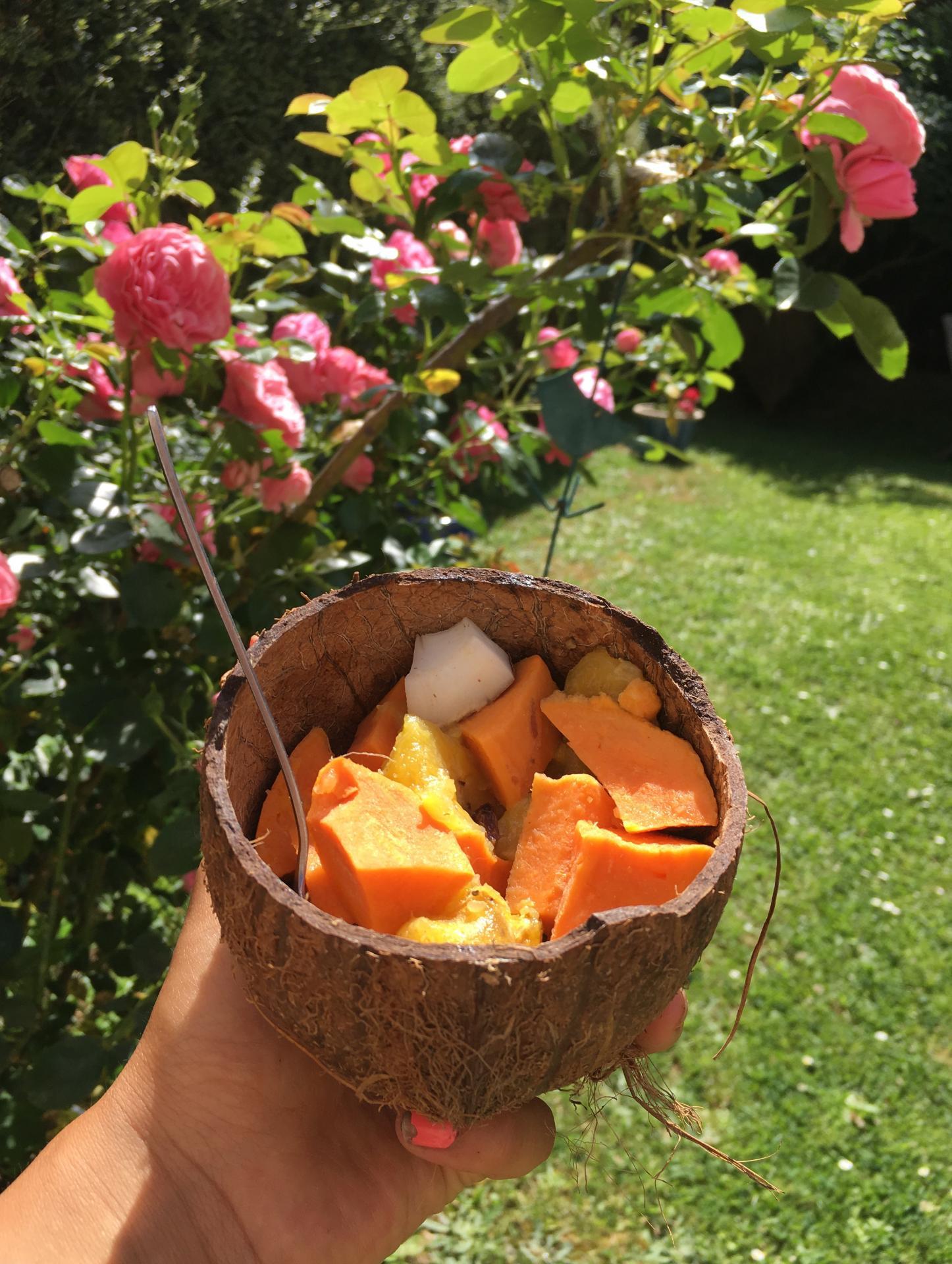 méli Mélo exotique de bananes plantain patate douces et coco