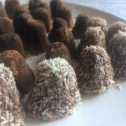Truffes au chocolat et coco