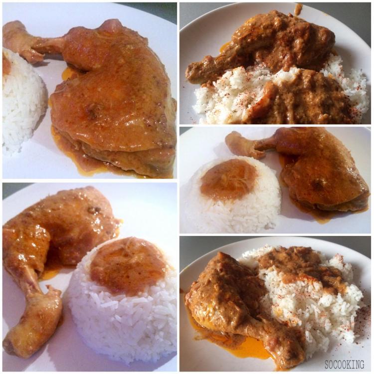 mafé de poulet africain
