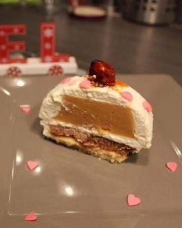 Bûche vanille caramel et spéculos