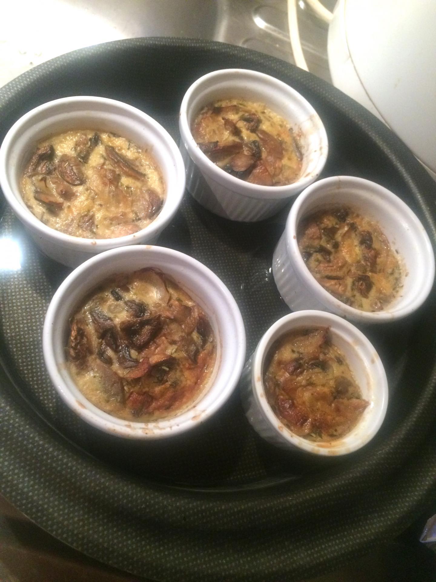 flan de champignons de paris