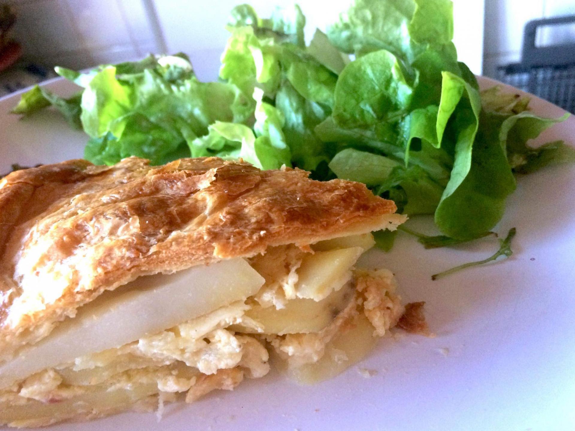 tourte pommes de terre, fromage et lardons