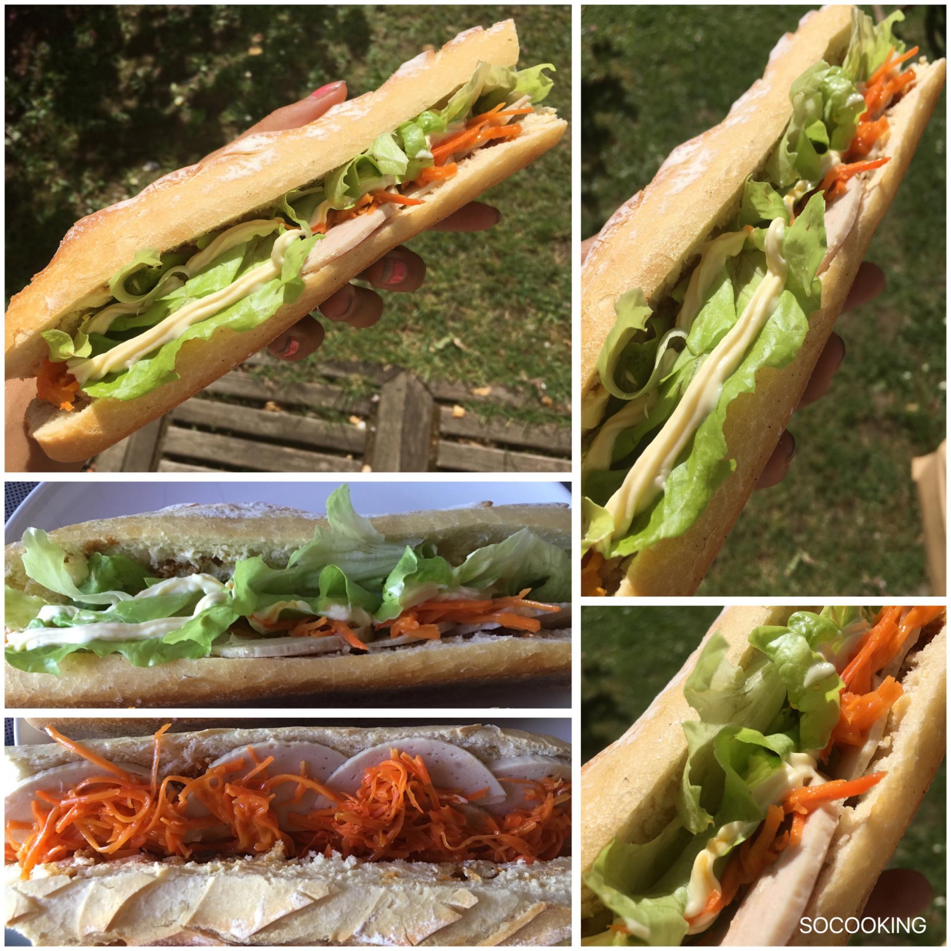 Sandwich vietnamien au cha lua