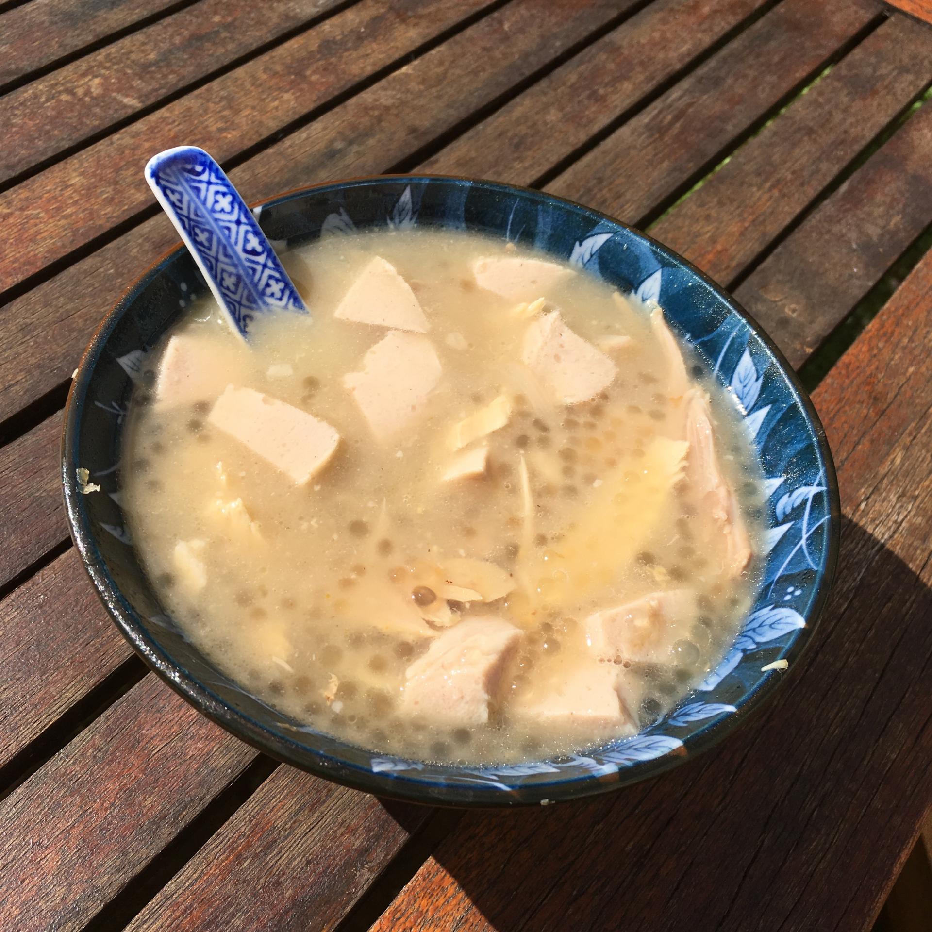 Soupe perles de tapioca